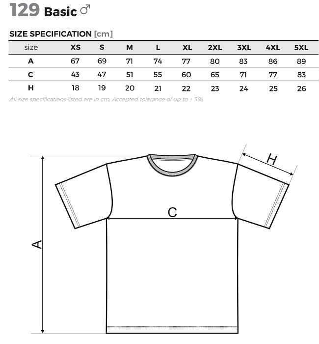 veľkosti pánskych tričiek