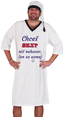 5f55e230f20d Pánska nočná košeľa s čiapkou