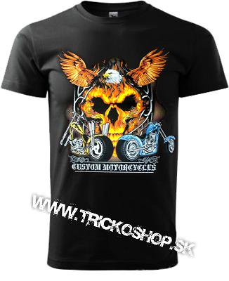 Pánske tričko Moto Choppers 2 (LEBKA V PLAMEňOCH)