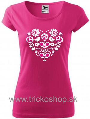 cbbfae7d16a89 Slovenské tričká s Ľudovým vzorom