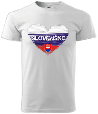 2ca680aa5019a Detské tričko SK srdce