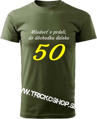 d0d3d862612c Pánske tričko Mladosť v prdeli